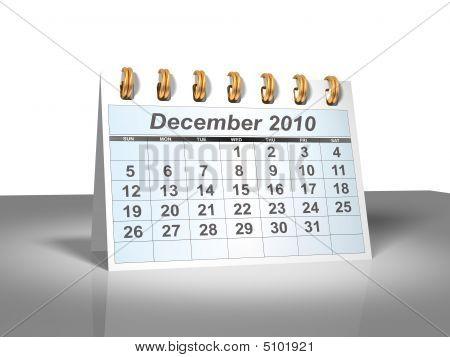 Desktop Calendar (3D). December, 2010.