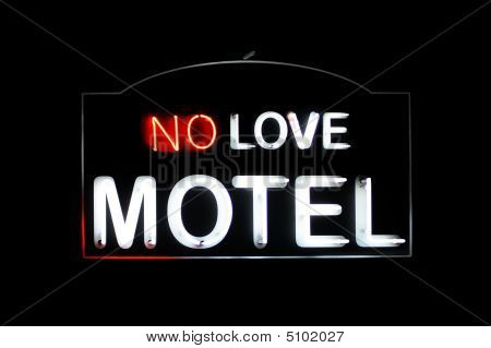 No Love Motel Neon Sign