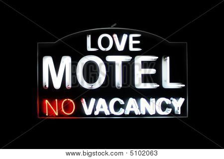 Love Motel No Vacancy Neon Sign