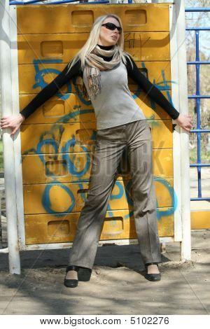 Woman At The Wall