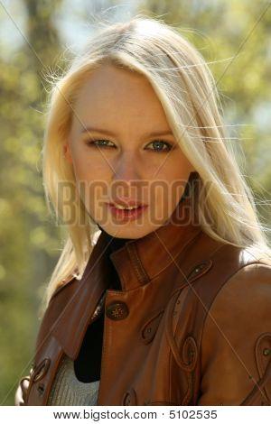 Portrait Of Woman Outdoor