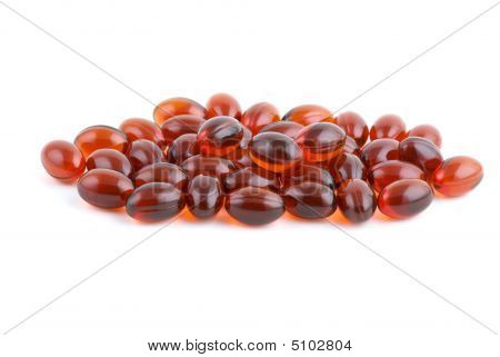 Small Pile Of Lecithin Capsules