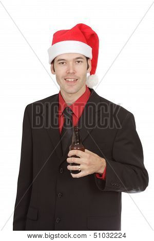 Office Worker At Christmas Party