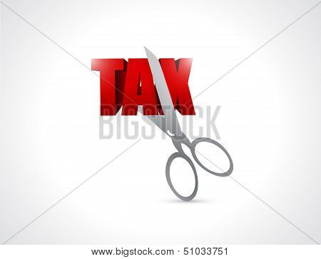 Cut Taxes Concept Illustration