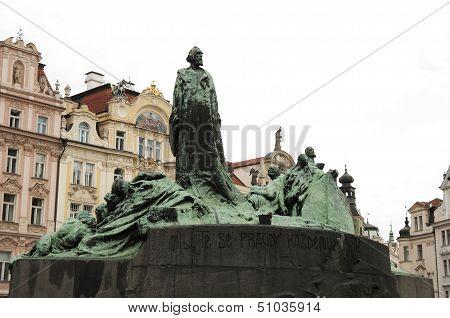 Statue Of Jan Hus, Prague - Czech Republic
