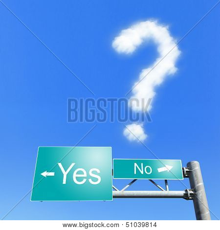 Yes Or No - Road Signs With Words