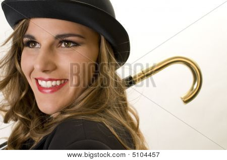 Girl In A Bowler Hat