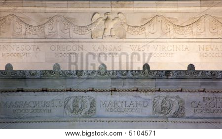 Lincoln Memorial Close Up Details Marble Eagle Washington Dc
