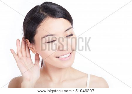 Woman Listen By Ear