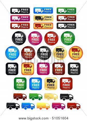 Free Shipping Badges Set