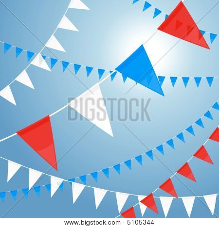 Red White And Blue Pennants