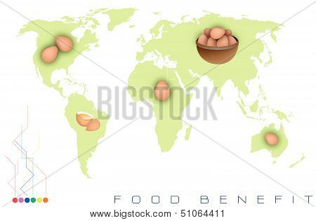 World Map With Egg Production And Consumption