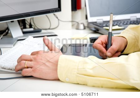 Graphic Designer Hands