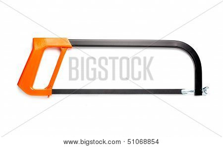 Hacksaw Isolated On The White.
