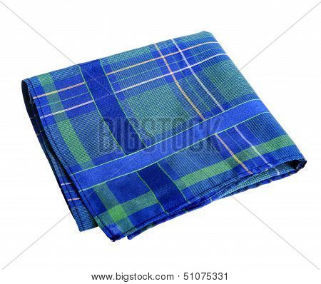 Blue-green handkerchief