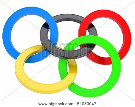 Multicolored mark the Olympic Games
