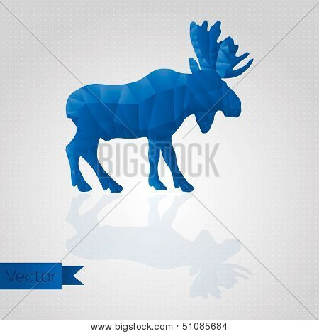 Abstract triangular moose