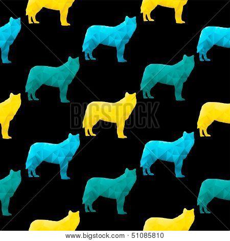 Abstract triangular wolf