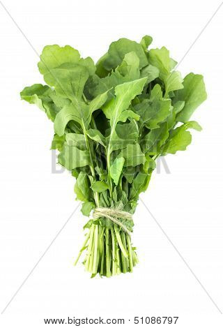 Green Rocket Or Roquette Leaves