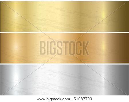 Metal texture set.
