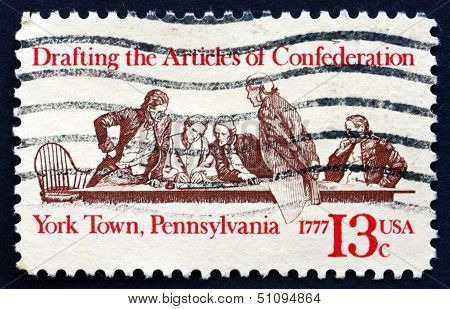Postage Stamp Usa 1977 Members Of Continental Congress In Conference