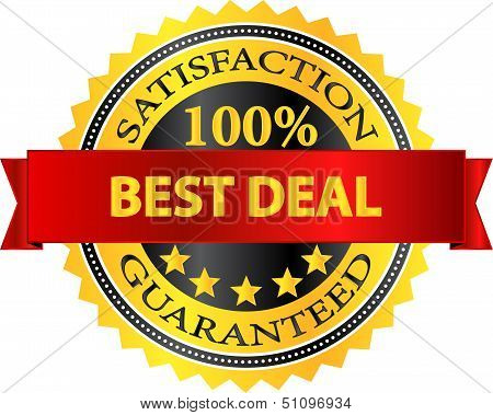 Best Deal Satisfaction Guaranteed Badge