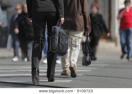 Businesswoman's Legs