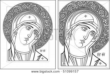 Virgin Oplechnaya outline11-12 vector picture.eps