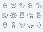 picture of wolf-dog  - Cartoon animal icons - JPG