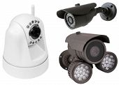 foto of cctv  - security camera isolated on white background - JPG