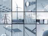 stock photo of electricity pylon  - Set of twelve images relating to electricity - JPG