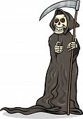 Death Skeleton Cartoon Illustration