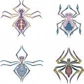 stock photo of symmetrical  - Symmetrical spider tattoos - JPG