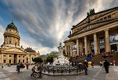 German Cathedral And Concert Hall On Gendarmenmarkt Square In Berlin, Germany