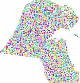 picture of harlequin  - Map of Kuwait  - JPG