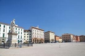 stock photo of leopold  - Piazza della Republica in Livorno in Italy - JPG