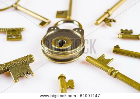 Copper Keys And Locks