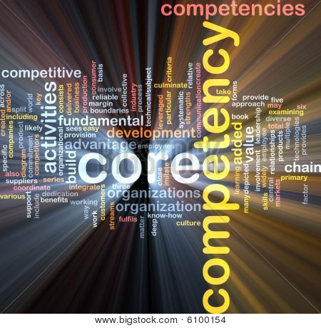 Core Competency Word Cloud Glowing