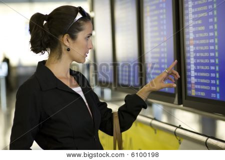 Young businesswoman waiting at the airport