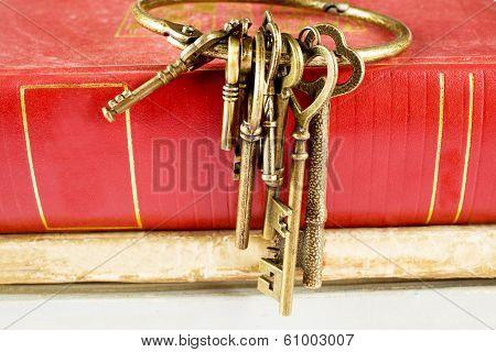 Old Keys On Old Book