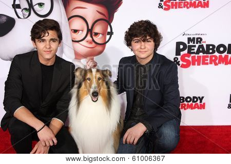 LOS ANGELES - MAR 5:  Logan Charles, Mason Charles at the