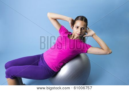 Fitness Woman doing an abdominal exercise