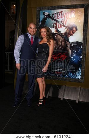 LOS ANGELES - MAR 4:  Tito Ortiz, Kristin Ortiz at the
