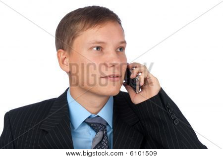 Man Talking On The Cell Phone