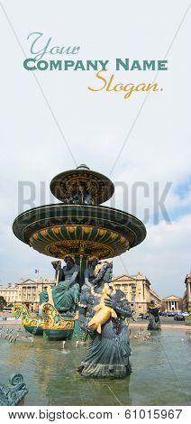Fountain in Place de la Concorde, Paris, France