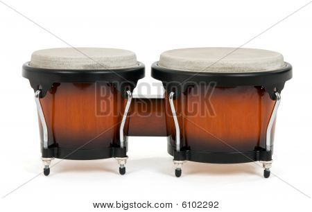 Bongos On White Background
