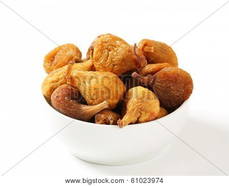 bowl with naturally dried and unsweetened figs