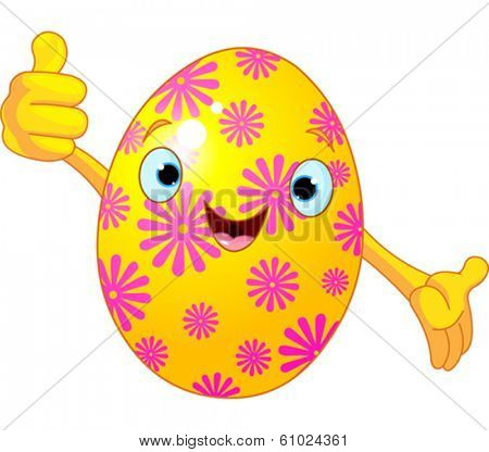 Illustration of Easter Egg giving thumbs up