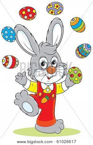 Easter Bunny juggler