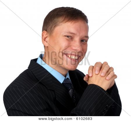 Smiling Handsome Businessman